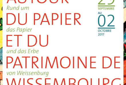 Autour du Papier et du PatrimoIne de Wissembourg