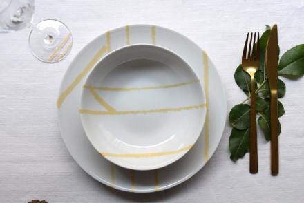 natt assiette verre sur table dressee