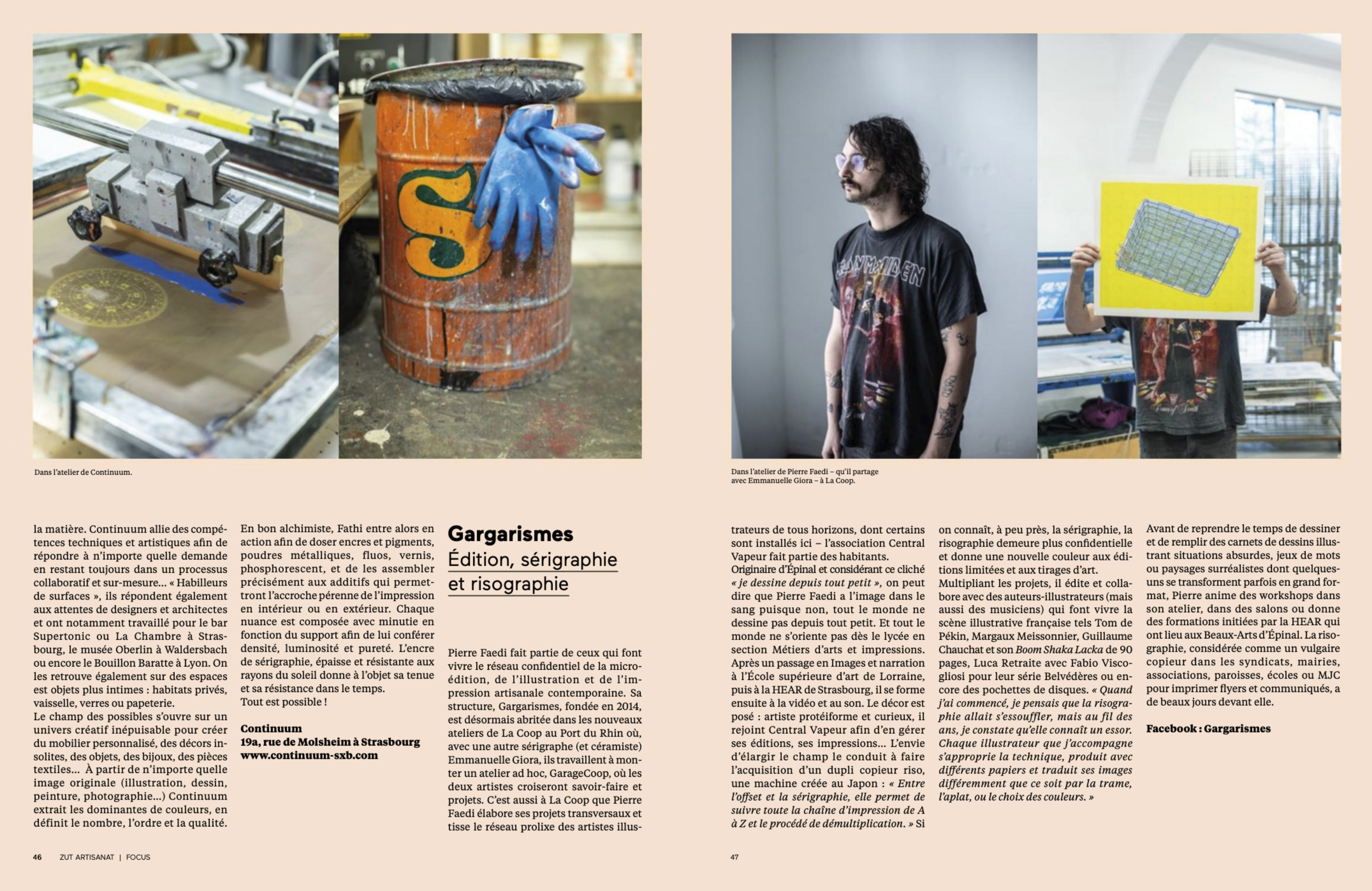 ZUT Hors-série #2 : L'Artisanat dans l'Eurométropole de Strasbourg