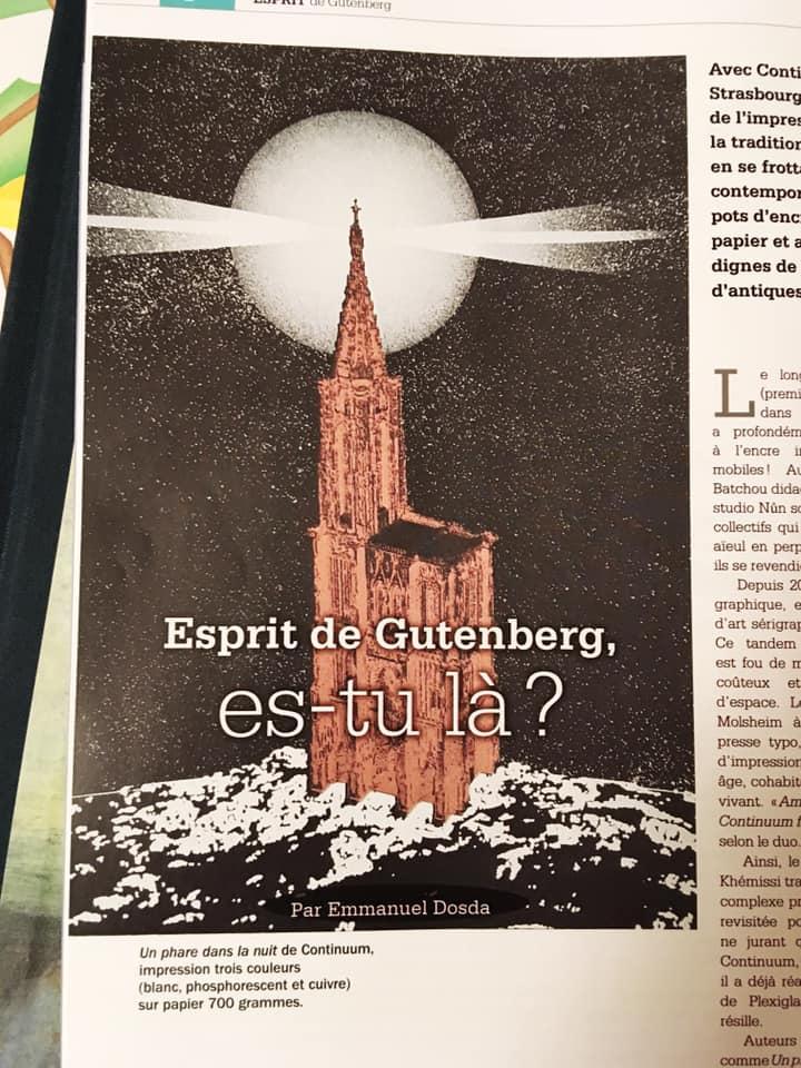 Esprit de Gutenberg, es-tu là ?